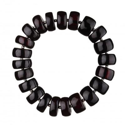 Cherry Buttons Amber Bracelet