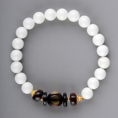 Elegancy Shell Amber Bracelet