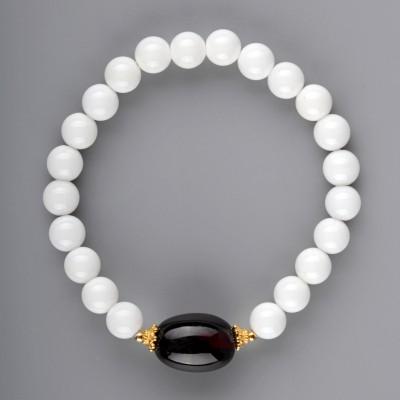 Amber Olive in Shell Amber Bracelet