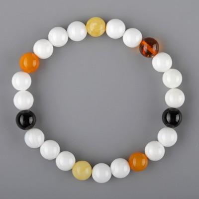 Rainbow Shell Amber Bracelet