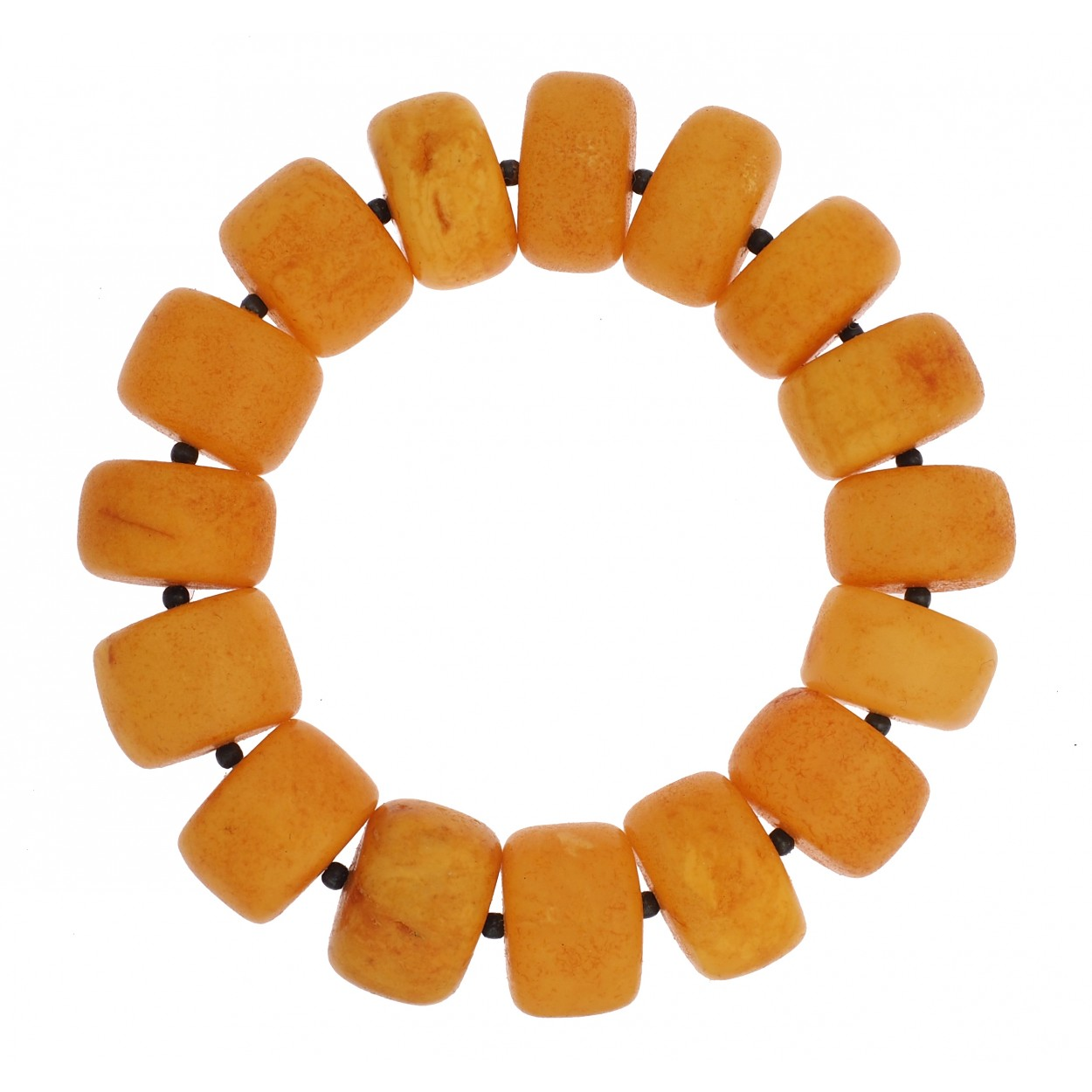 Unique Antique Buttons Amber Bracelet