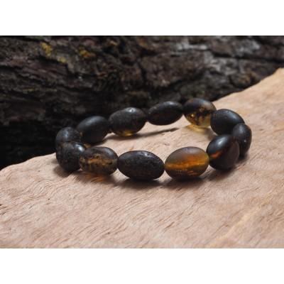 Black Beans Amber Bracelet