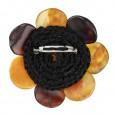 Rustic Flower  Amber Brooch
