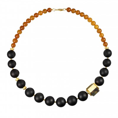 Dice Amber Necklace