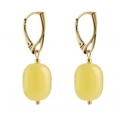 Very Yellow Amber Earrings