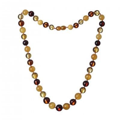 Amber Necklace Rainbow Beads