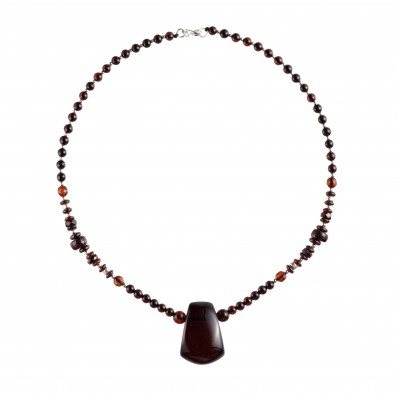Amber Necklace Cherry Trapeze