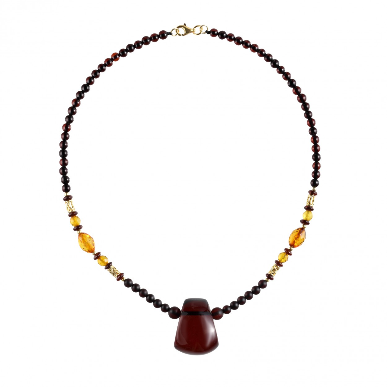 Amber Necklace Elegant Trapeze
