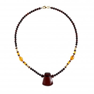 Amber Necklace Elegant Trapeze