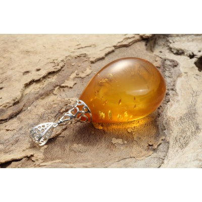 Honey Drop Amber Pendant