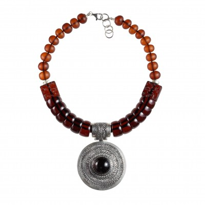 New Egypt Queen Amber Necklace