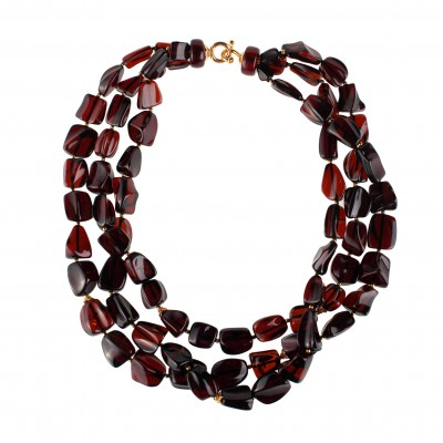 Cherry Rain Amber Necklace