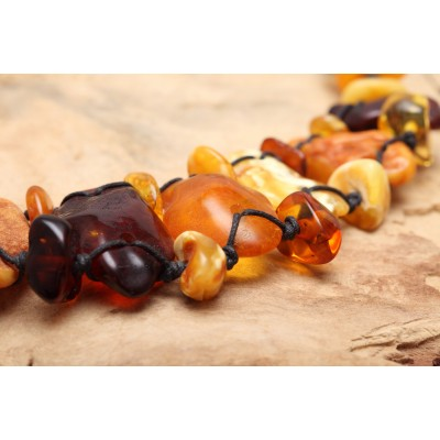 Baby Flintstone Amber Necklace