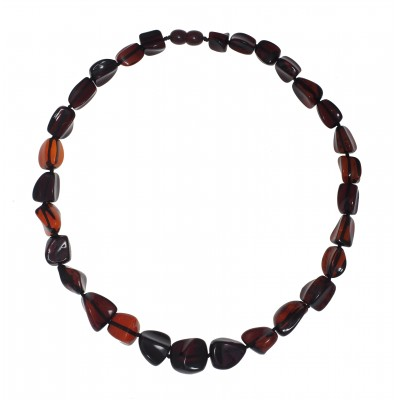 Red Wine Amber Necklace