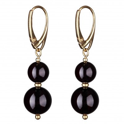 Berry Amber Earrings