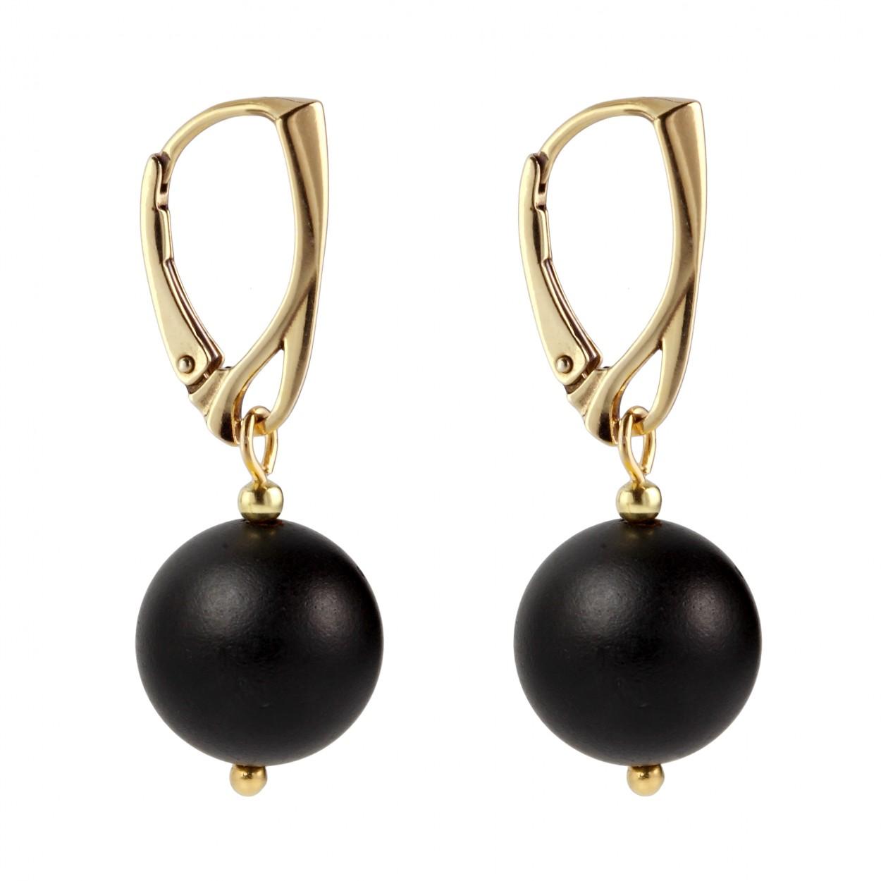 Rustic Balls Amber Earrings
