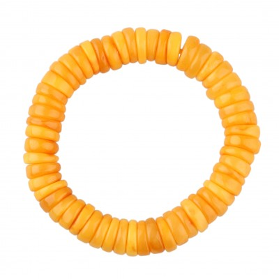 Orange Amber Bracelet