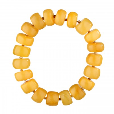 Classical Buttons Amber Bracelet