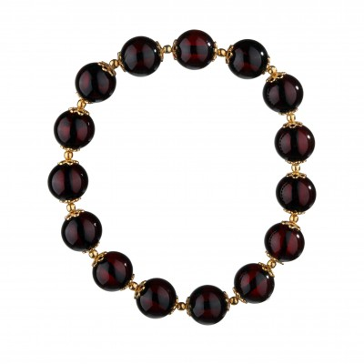 Golden Cherry Amber Bracelet