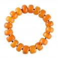 Orange Buttons Amber Bracelet