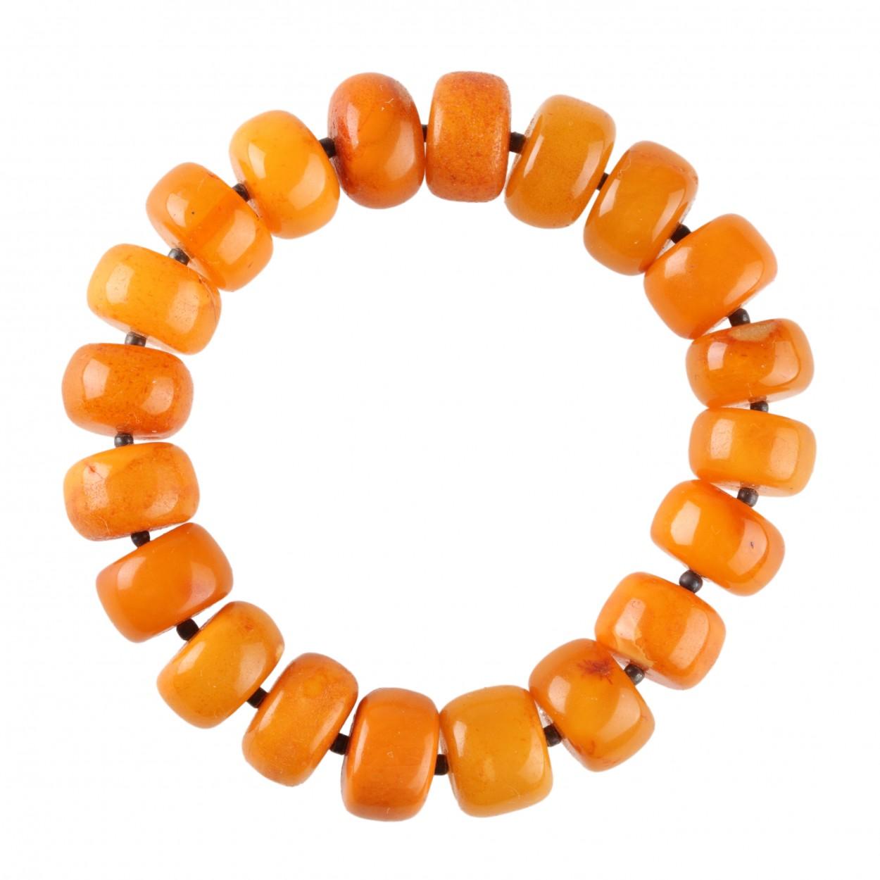Amber Bracelet Orange Buttons