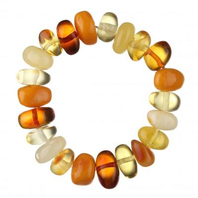 Rainbow Bonbon  Amber Bracelet