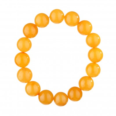 Round Beads Amber Bracelet