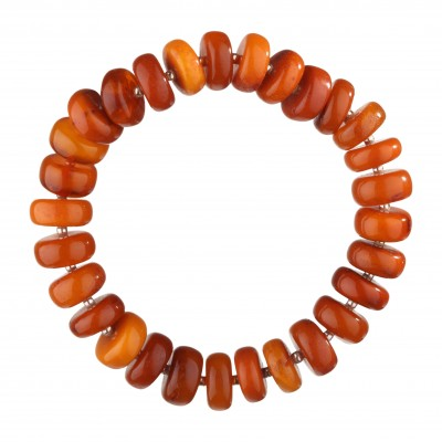 Antique Classical Buttons Amber Bracelet