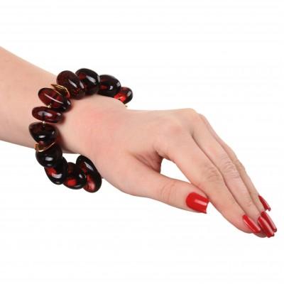 Cherry Bonbonb Amber Bracelet
