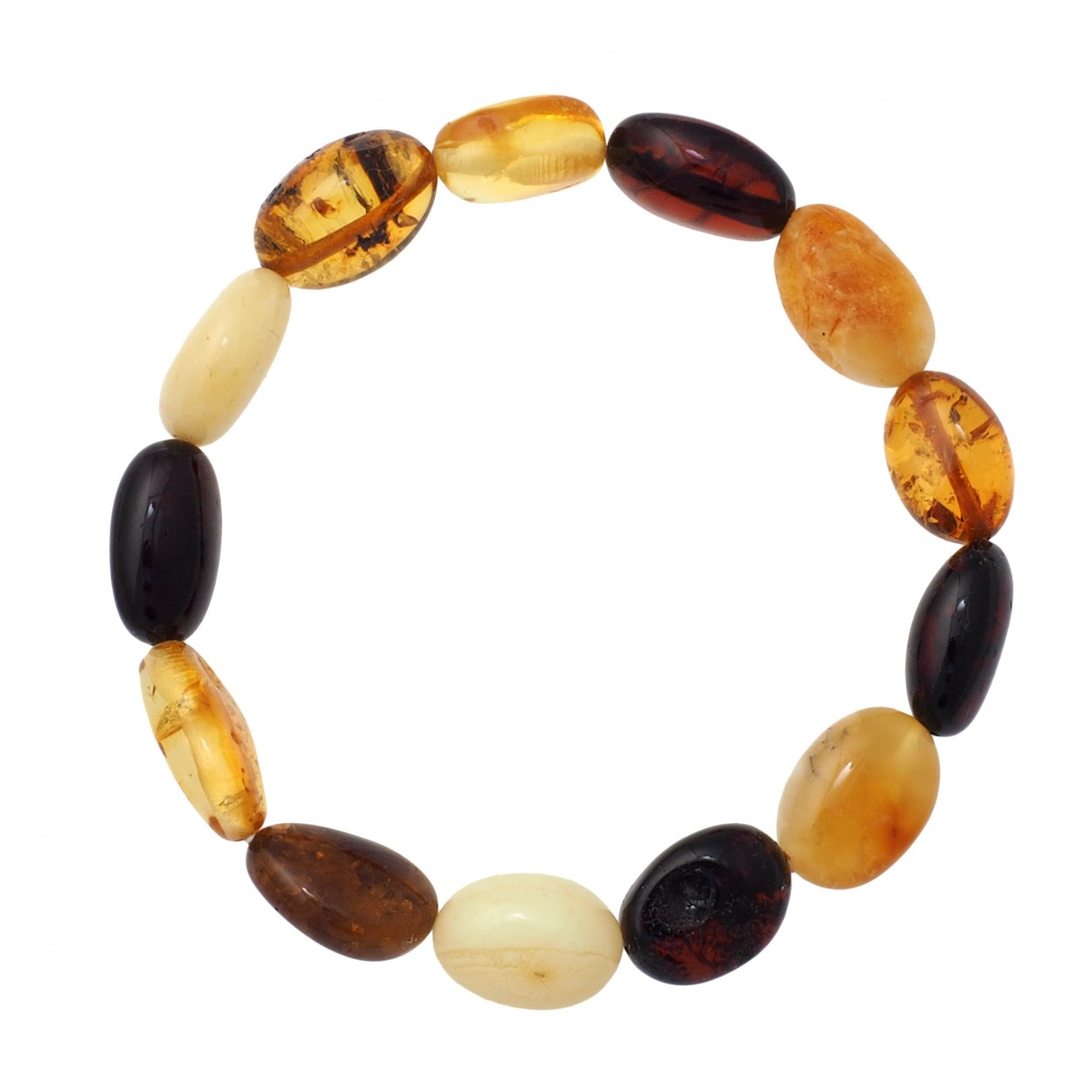 Colored Beans Amber Bracelet
