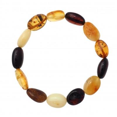 Colored Beans Amber Bracelet