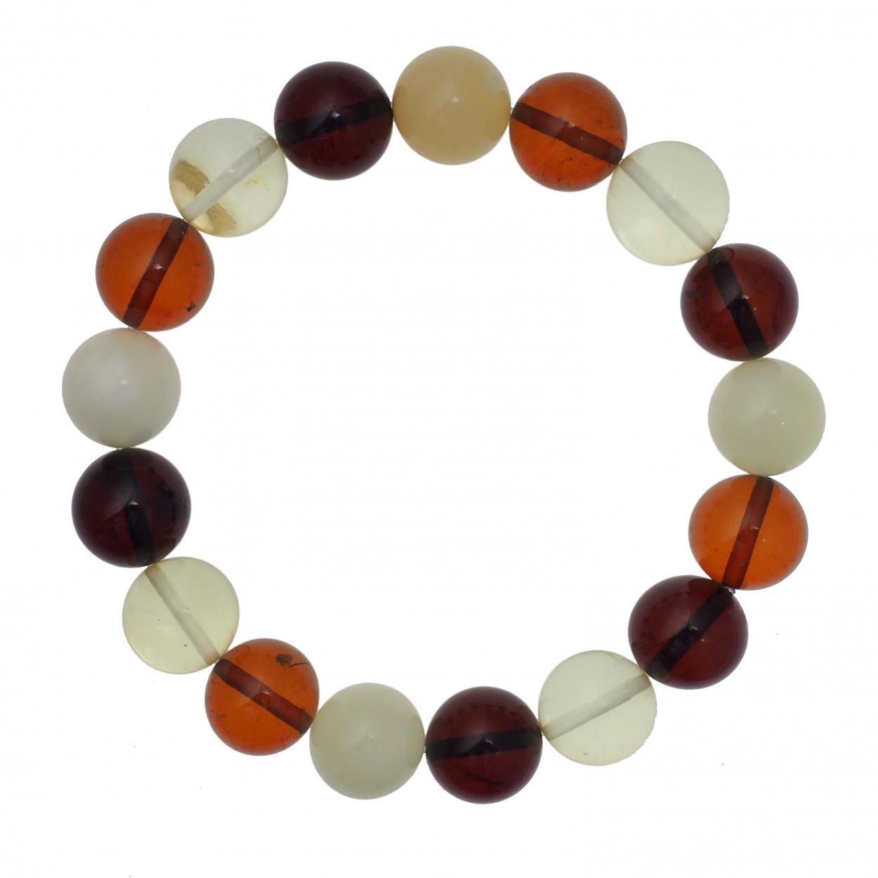 Colored Balls Amber Bracelet