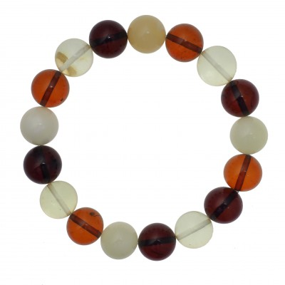 Colored Balls Amber Bracelet