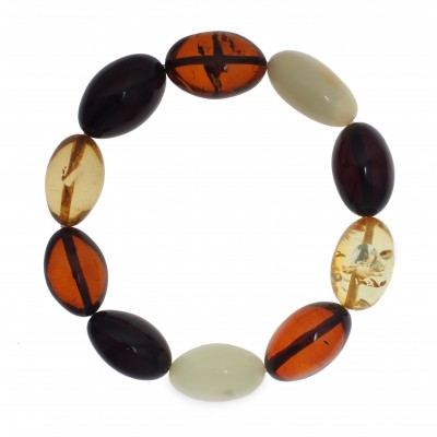 Colored Olives Amber Bracelet