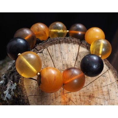 Amber Bracelet Antique Beads