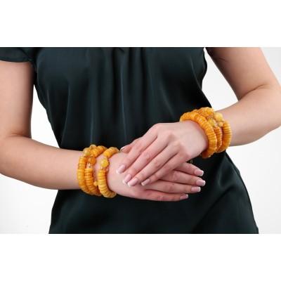 Yellow Wave Amber Bracelet