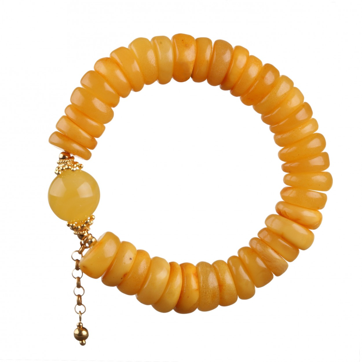 Yellow Wave Amber Bracelet