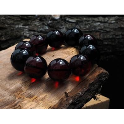 Huge Cherry Balls Amber Bracelet