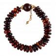 Dark Flintstone Amber Bracelet
