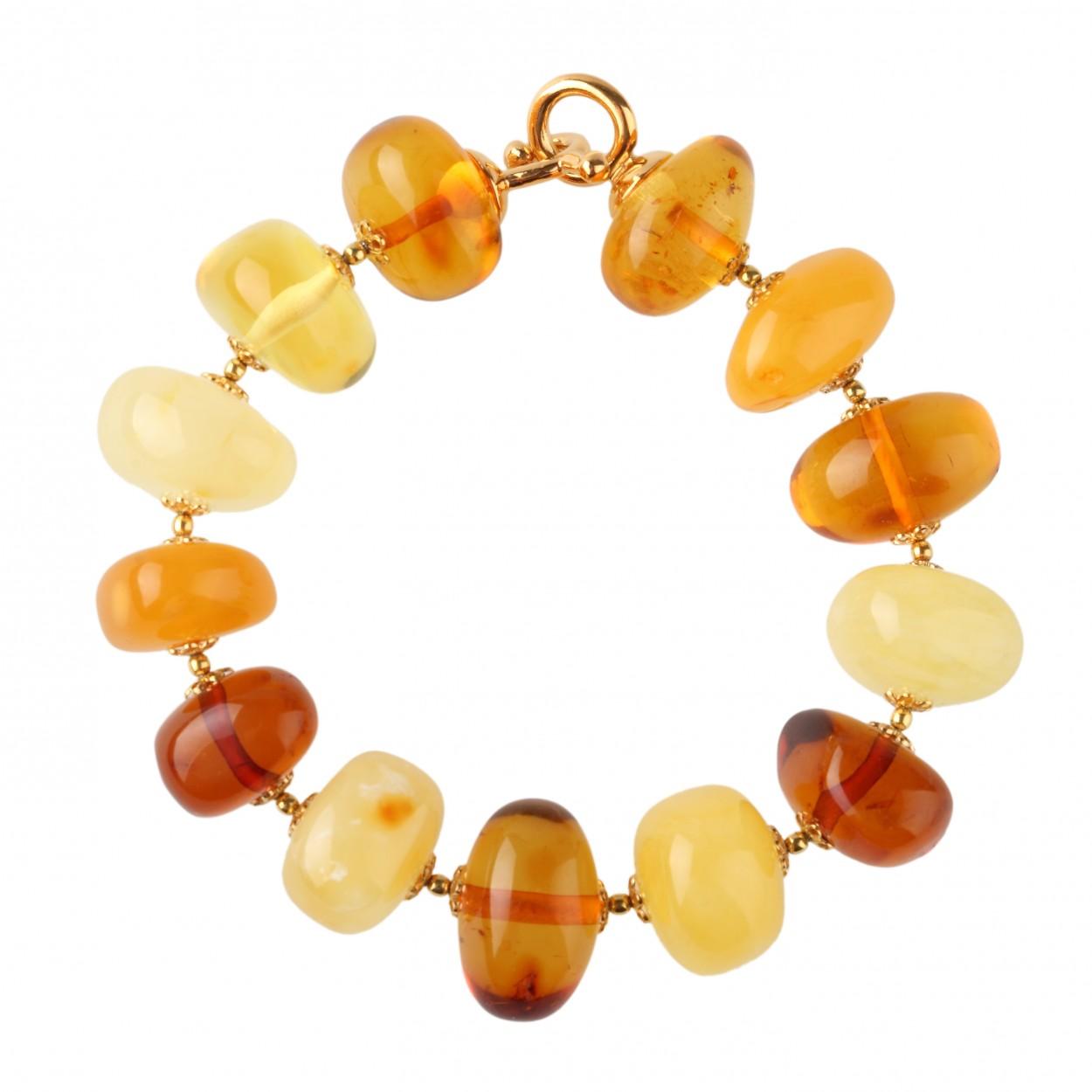 Round Bonbon  Amber Bracelet