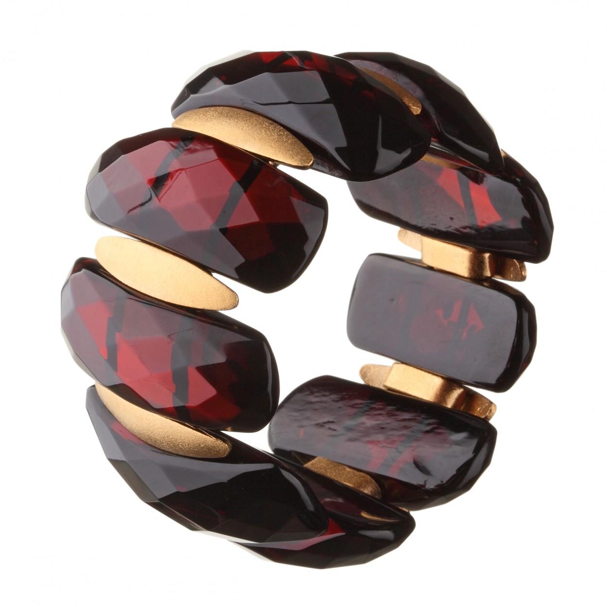 Diamond Cut Amber Bracelet
