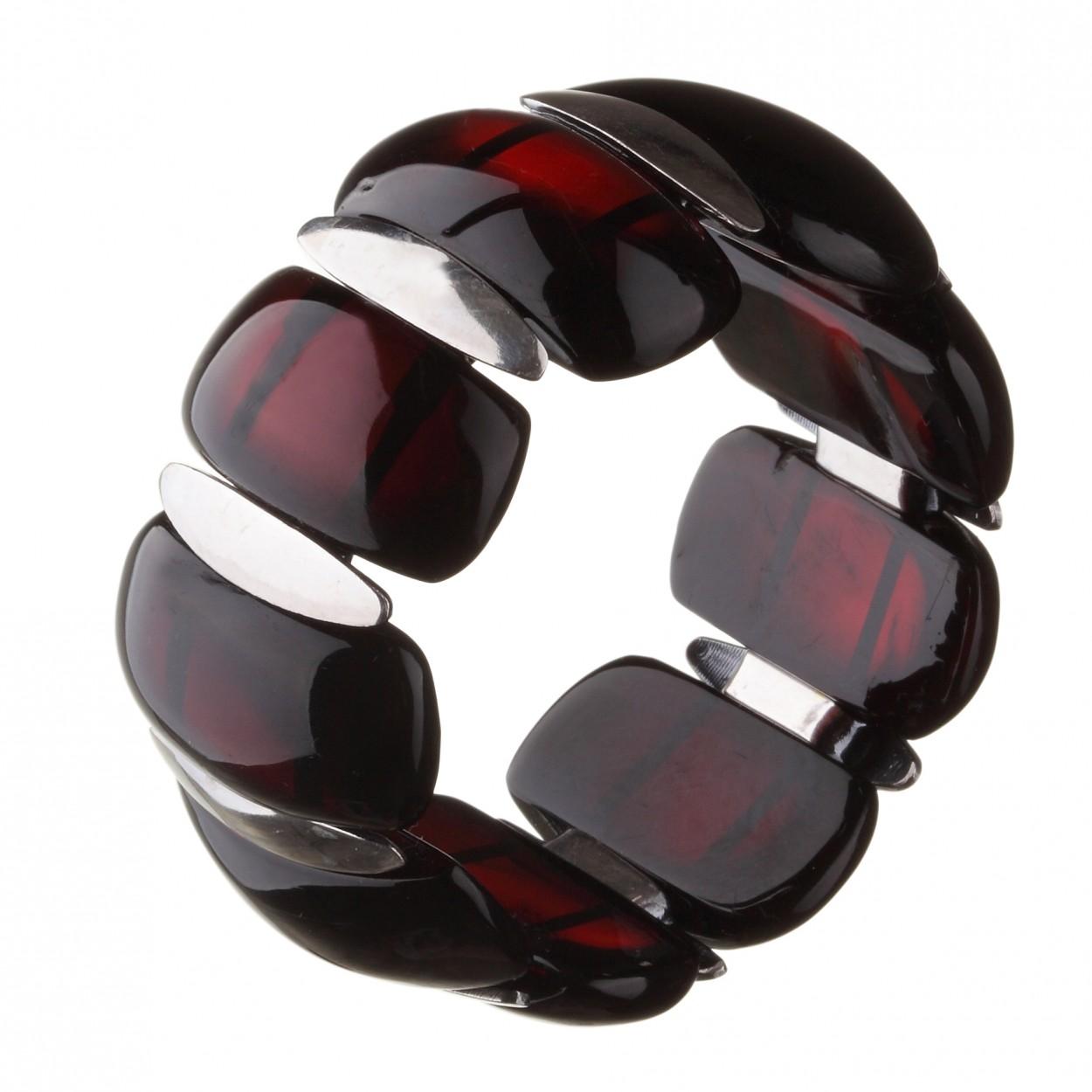 Cherry plates Amber Bracelet
