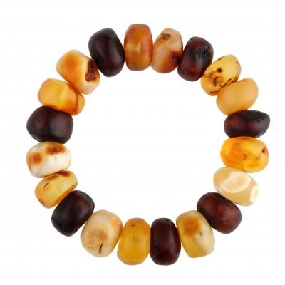 Natural Buttons Amber Bracelet