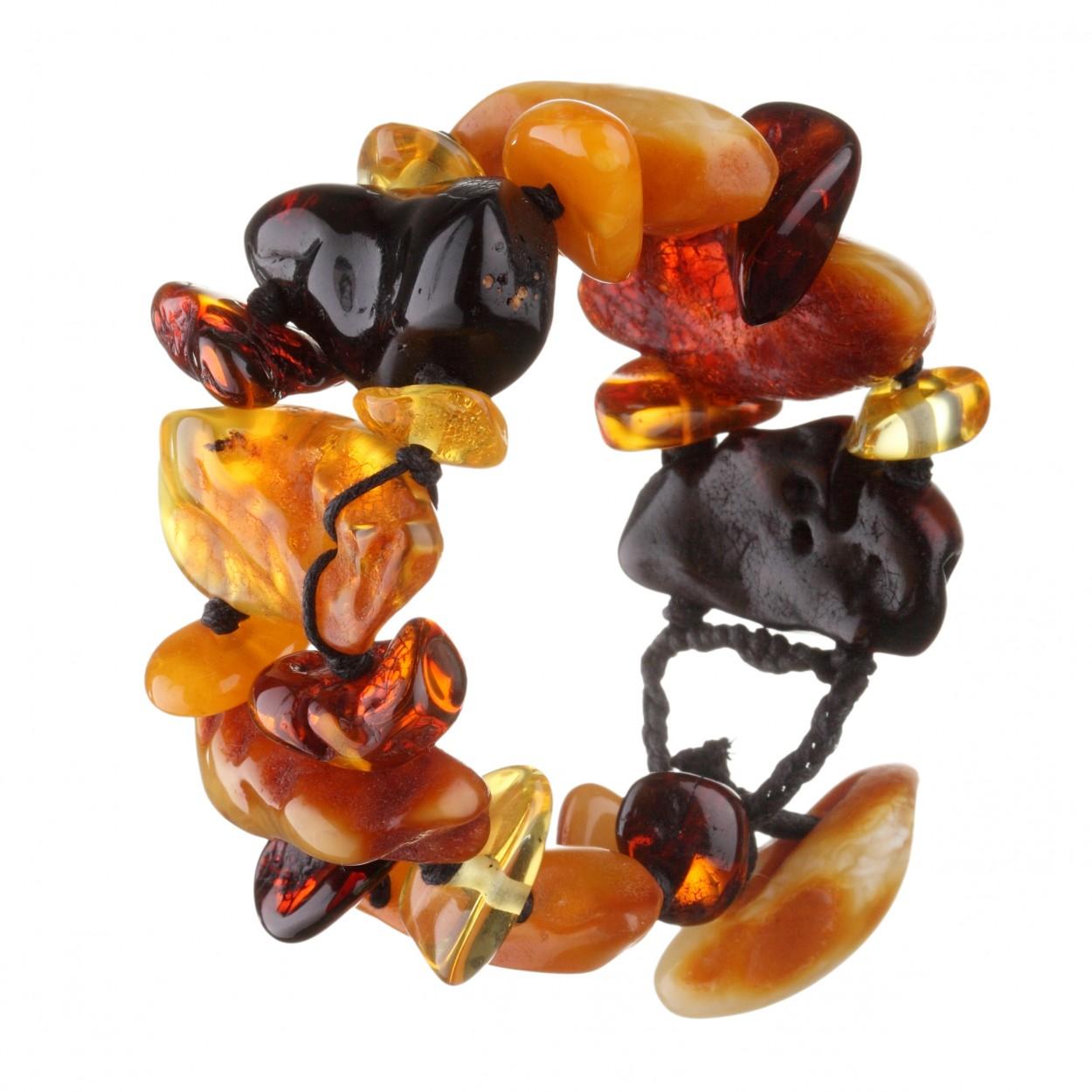 Flintstone Amber Bracelet
