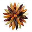 Flower Queen Amber Brooch