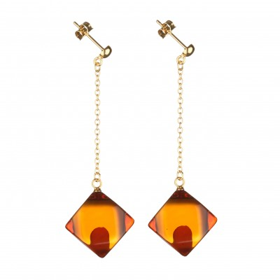 Pendola Amber Earrings