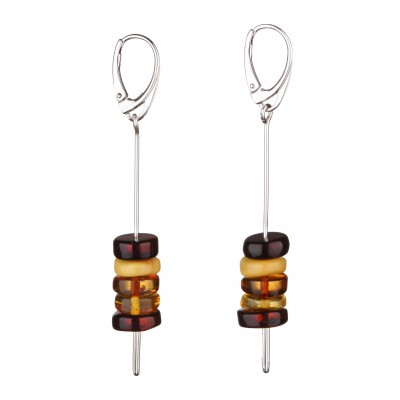 Rainbow Amber Earrings