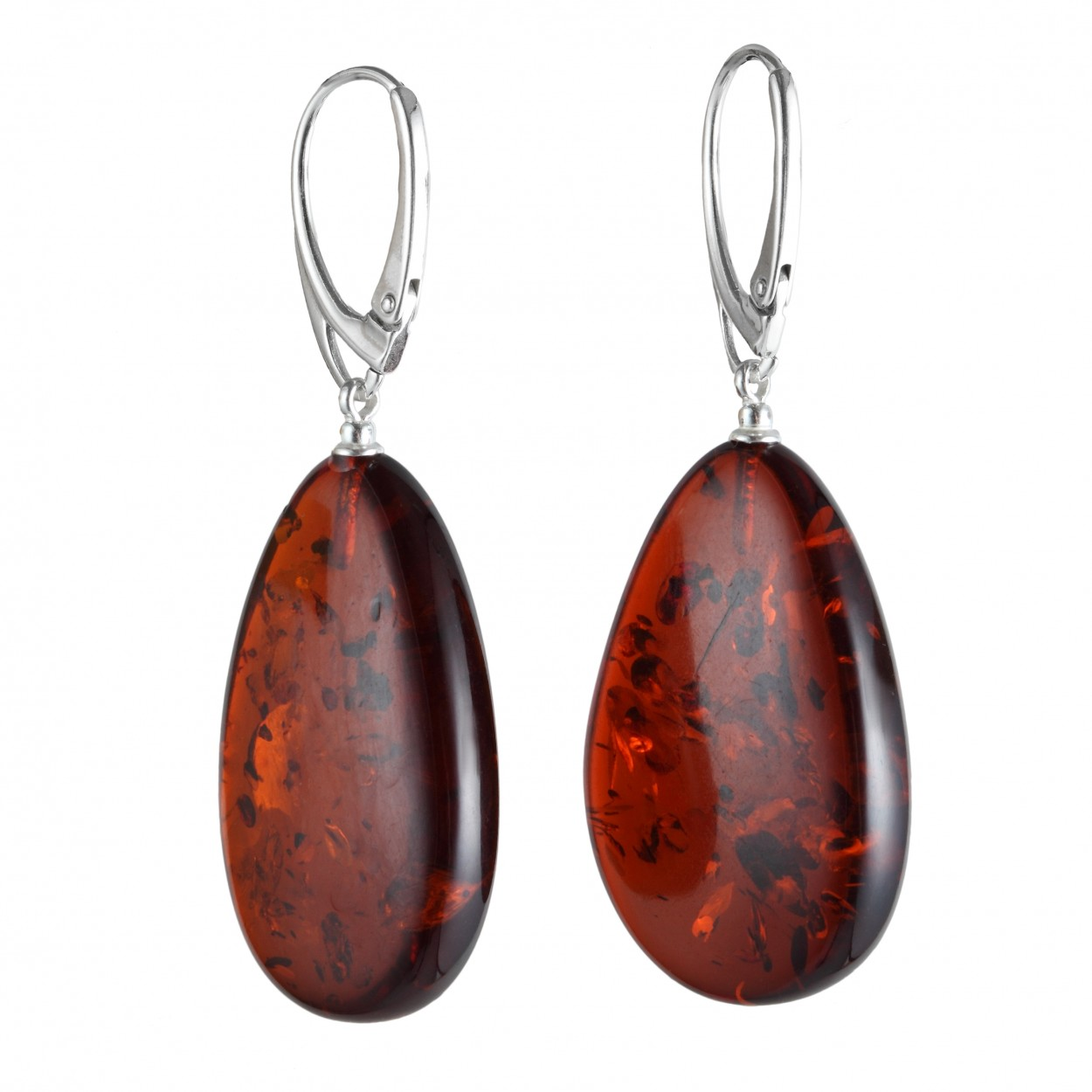Burble Pancakes Amber Earrings