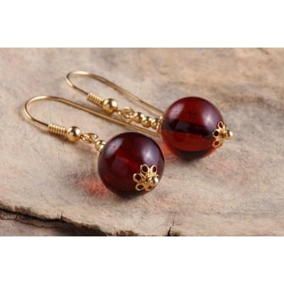 Amber Earrings Globule