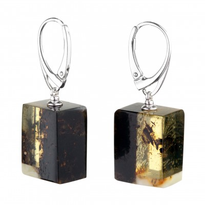 Mosaic Amber Earrings